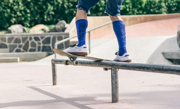 スケーター少年をクローズアップ