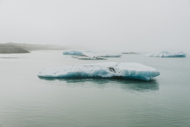 アイスランドの氷河ラグーン
