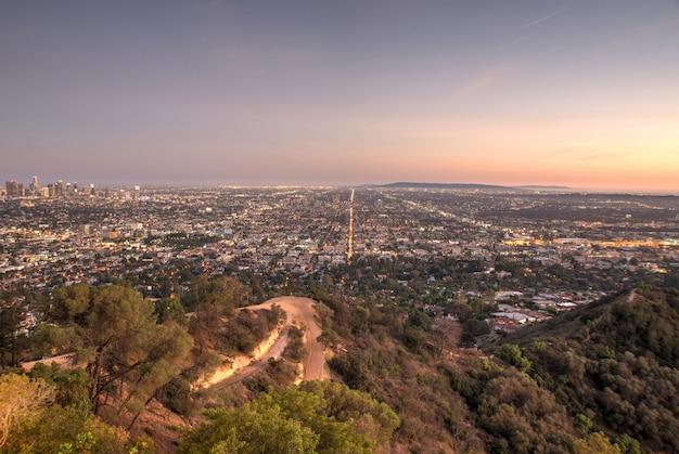 ロサンゼルスの美しい空撮