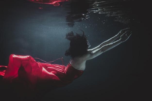 水中の女性