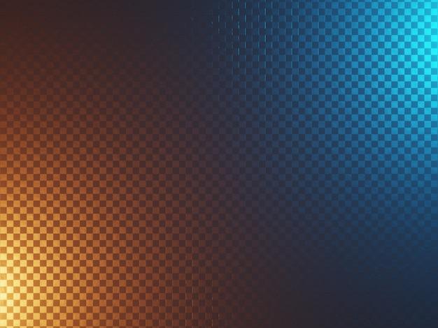 青とオレンジで照らされた抽象的なテクスチャとサイエンスフィクションの金属の背景