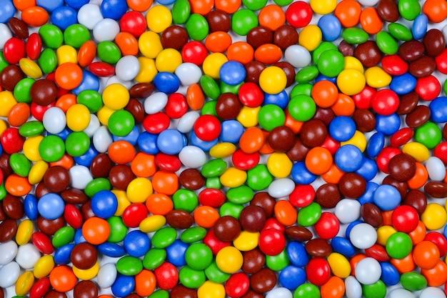 Красочные конфеты вид сверху