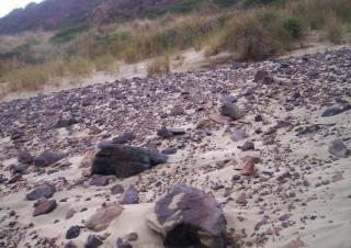 岩とスコリア