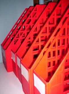 赤ファイルホルダー