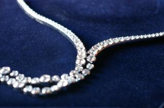 水晶ネックレス、ビジュー