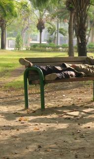 Бездомный человек, мужчина