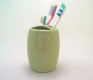 歯ブラシ、緑
