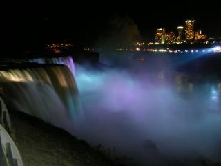 Красота ниагарского водопада, создание жидкости