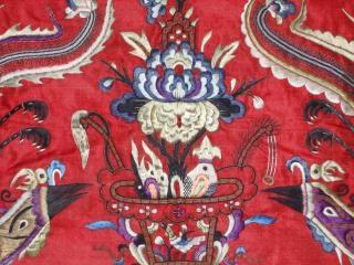中国アンティークの刺繍