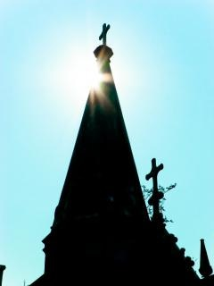 Кладбище пейзаж, кладбище