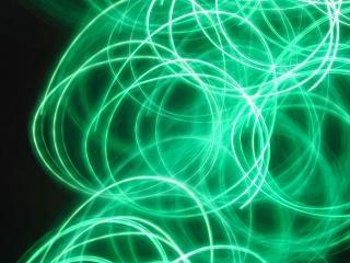 緑の渦巻きの光
