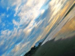 海岸砂丘は、水の雰囲気