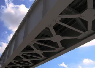 鉄橋は、溶融