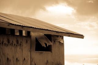 木造の小屋