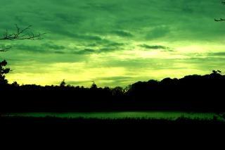 アイルランドの夕日