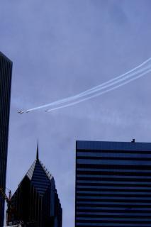 シカゴ、飛行機