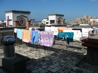 天日乾燥洗濯