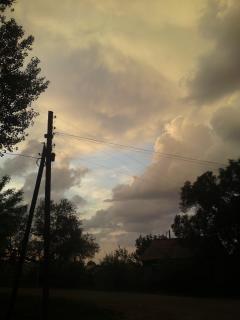 Буря небо