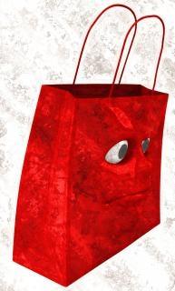 悲しいショッピングバッグ