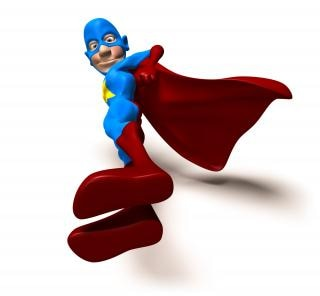 Супергероя, улыбаясь