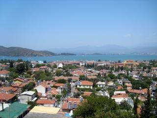 トルコ、トルコ、海からの写真