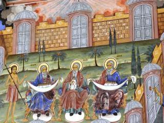 リラ修道院、修道院のフレスコ画