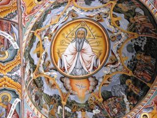 リラ修道院のフレスコ画