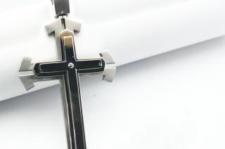 Нержавеющей стали крест, объект