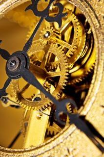 古い時計の圧力クロック