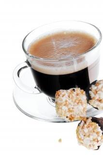 Кофе на белом