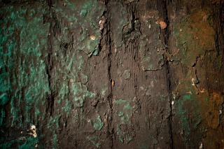 木グランジでザラザラ塗装
