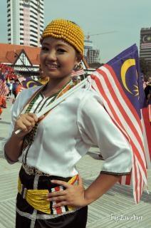 マレーシアの顔の少女
