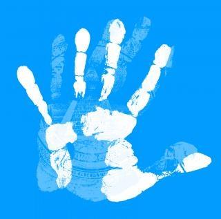 手のマーク