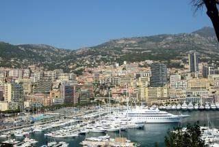 Вид на город пейзаж монако