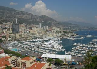 Вид на город монако
