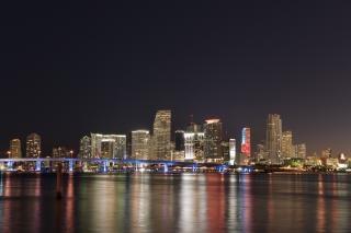 マイアミのダウンタウンの空