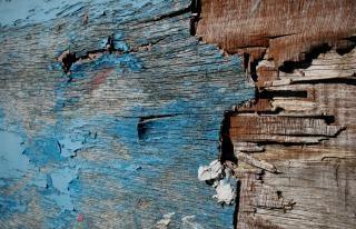 古い塗装木材のテクスチャ