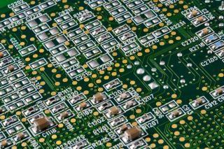 回路基板は、円形のクローズアップ