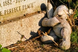 墓石テディベア写真