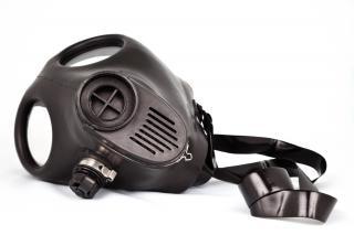 ガスマスクの放射性降下物