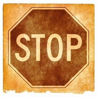 グランジテクスチャを一時停止の標識