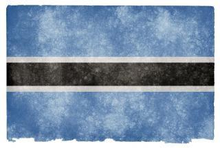 Ботсвана гранж флаг грязные