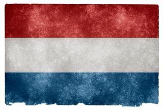 Нидерланды гранж декоративный флаг