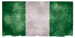 Нигерия гранж флаг