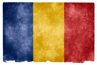 Румыния гранж флаг нации