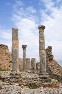 ローマ時代の遺跡の遺物