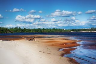 Река сцены пейзаж