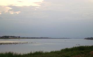 ラオスのメコン河川
