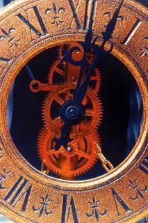 古い時計黄金