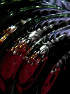 宇宙の黒抽象バブル背景